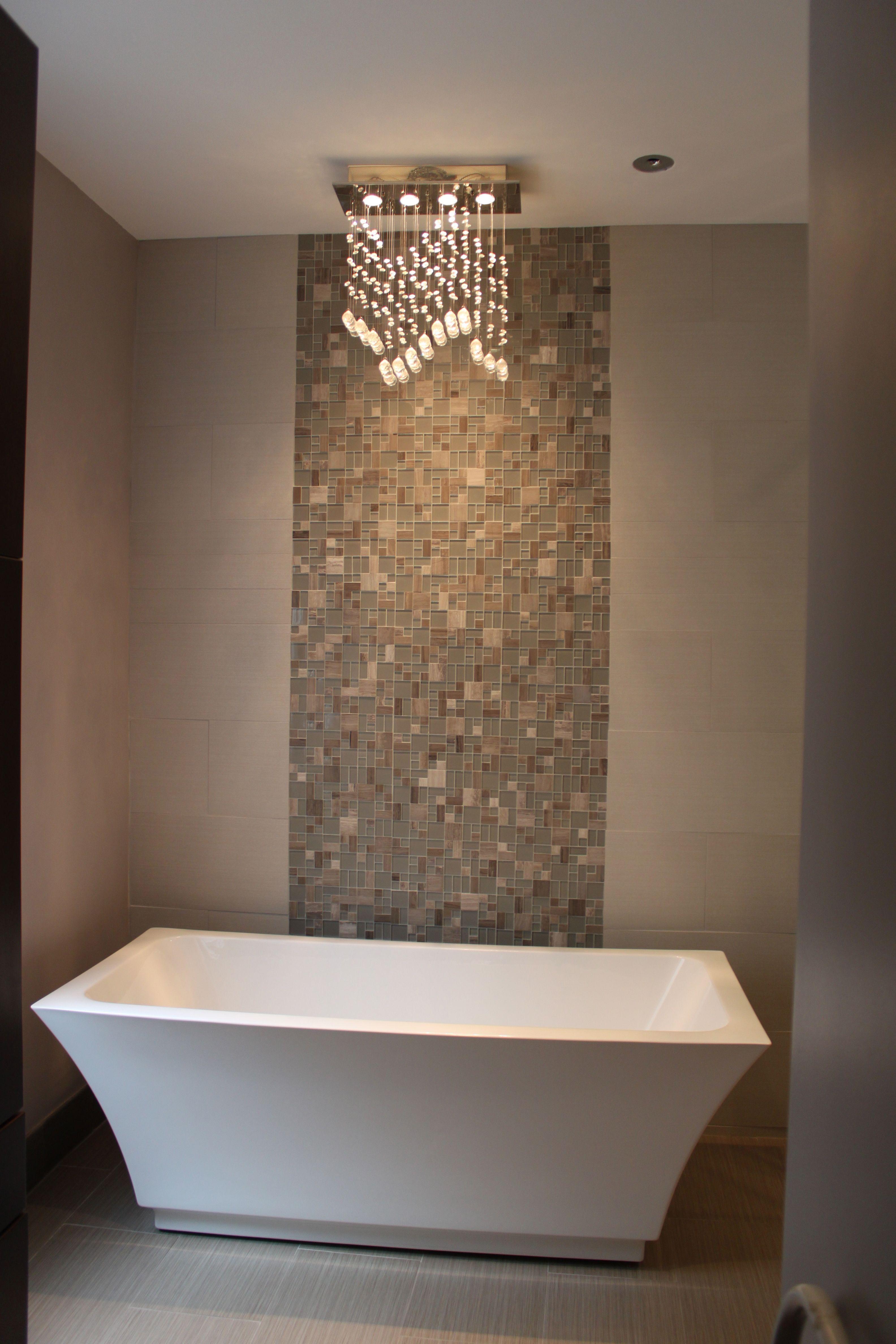 Freestanding Bathtub with Kohler ceiling faucet ...