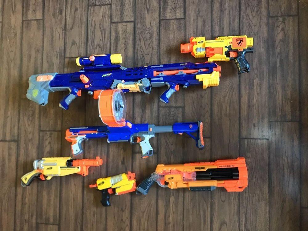 Full box of Toys gun Baby 5 favorite Toys Nerf Gun Johny