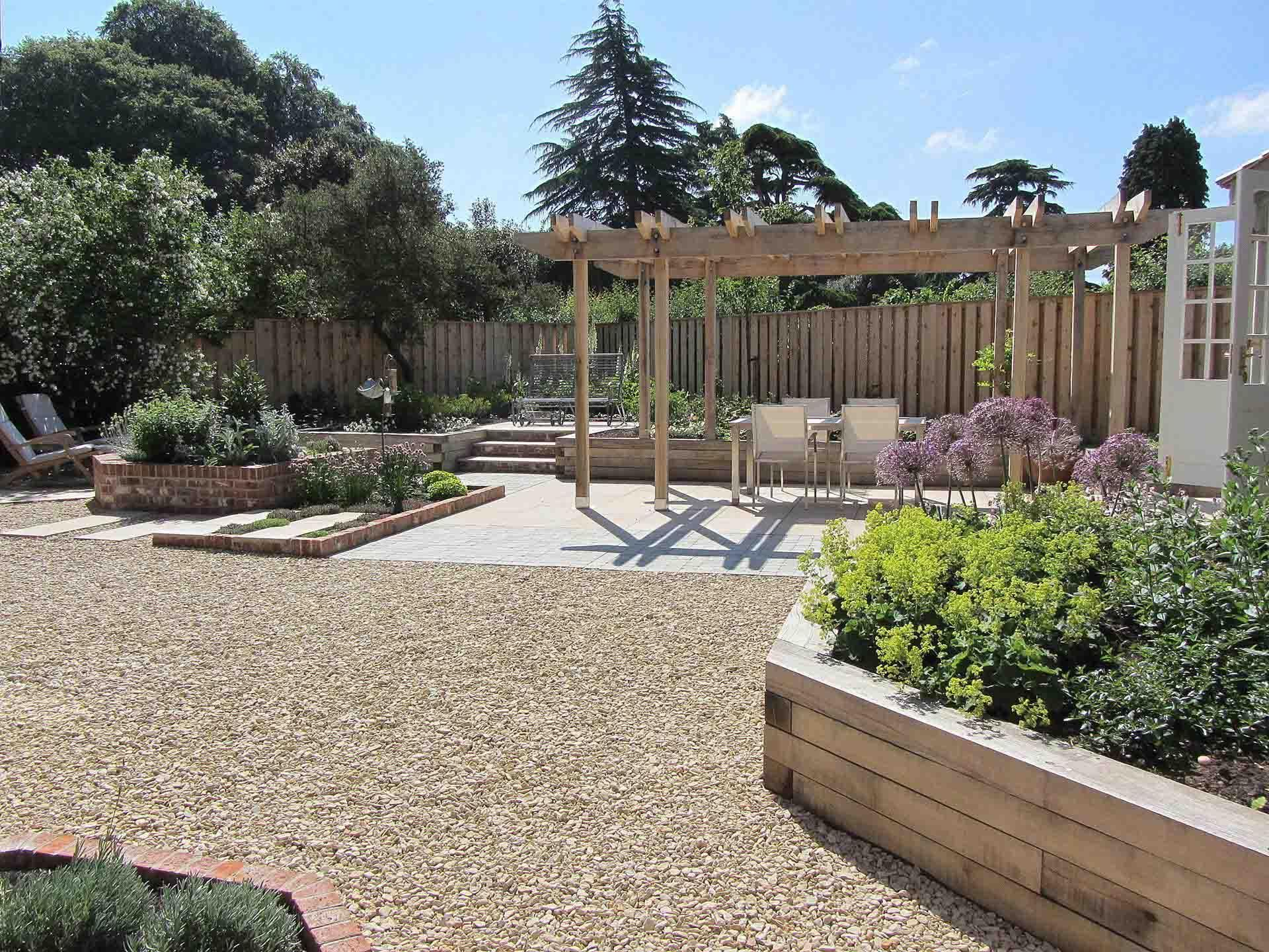 bespoke oak pergola raised oak sleeper beds