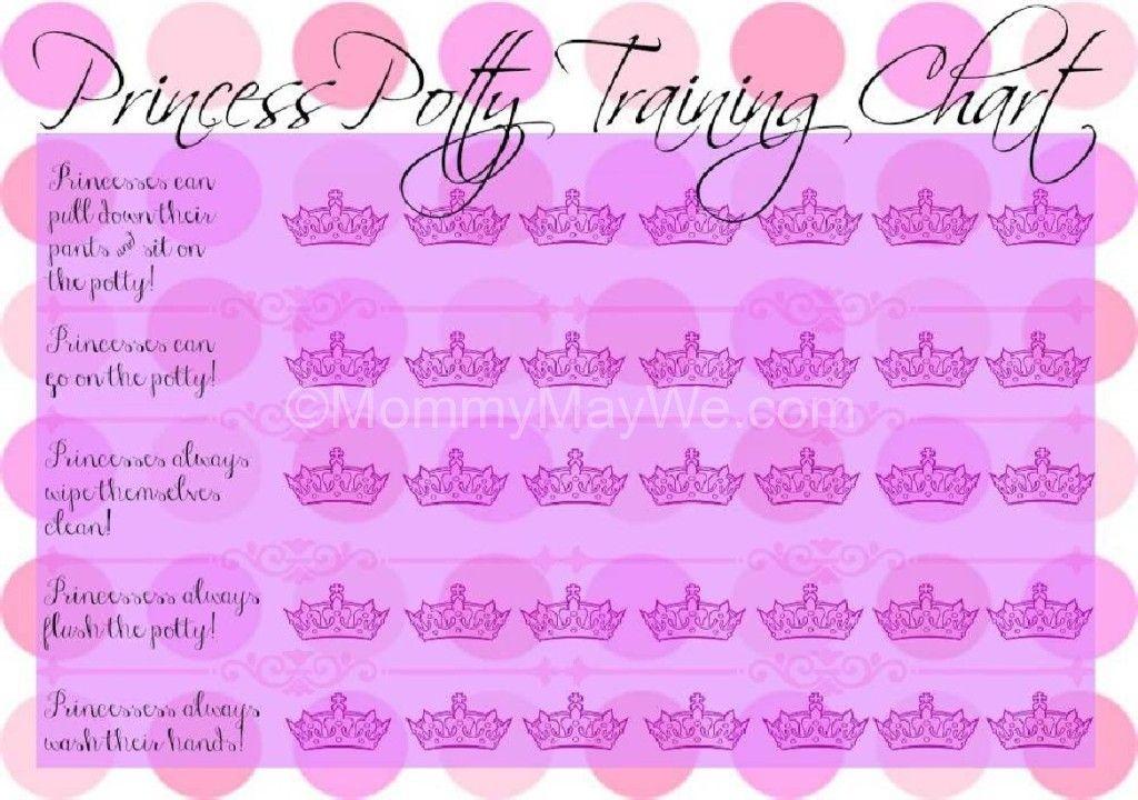 FREE Princess Potty Training Chart Printable Kiddy things Pinterest