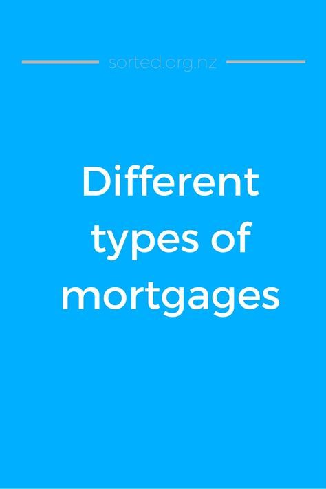 There are many types of mortgages, each with its own interest rate