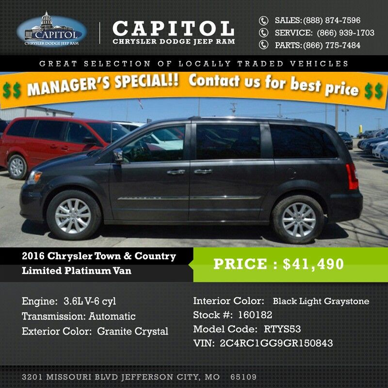 2016 Chrysler Town And Country Chrysler Town And Country Vans Price