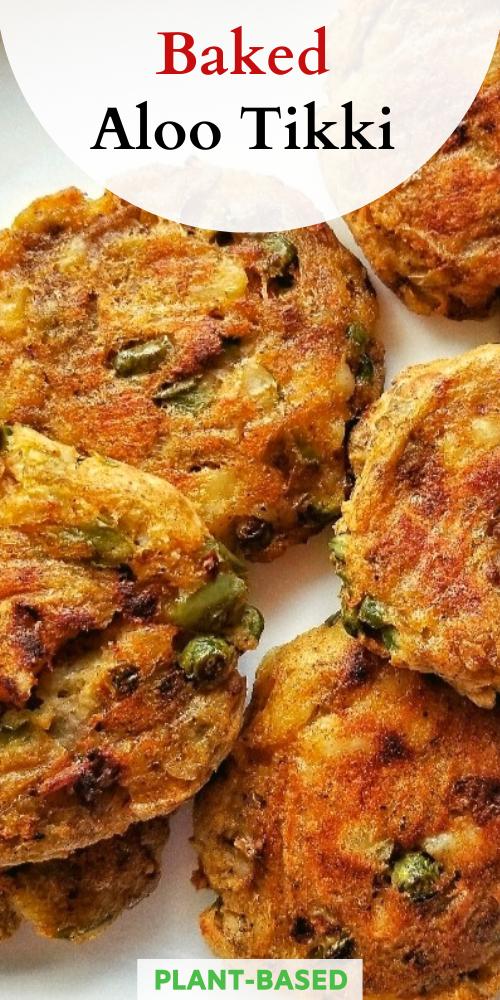 Vegan Baked Aloo Tikki