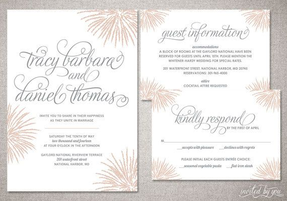 firework inspired tracy wedding invitation suite whimsy modern
