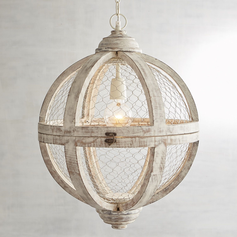 Rosard Wooden Convertible Pendant Light White Pendant