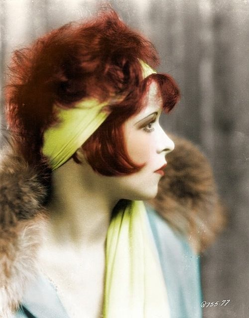 Clara Bow, in colour this time.