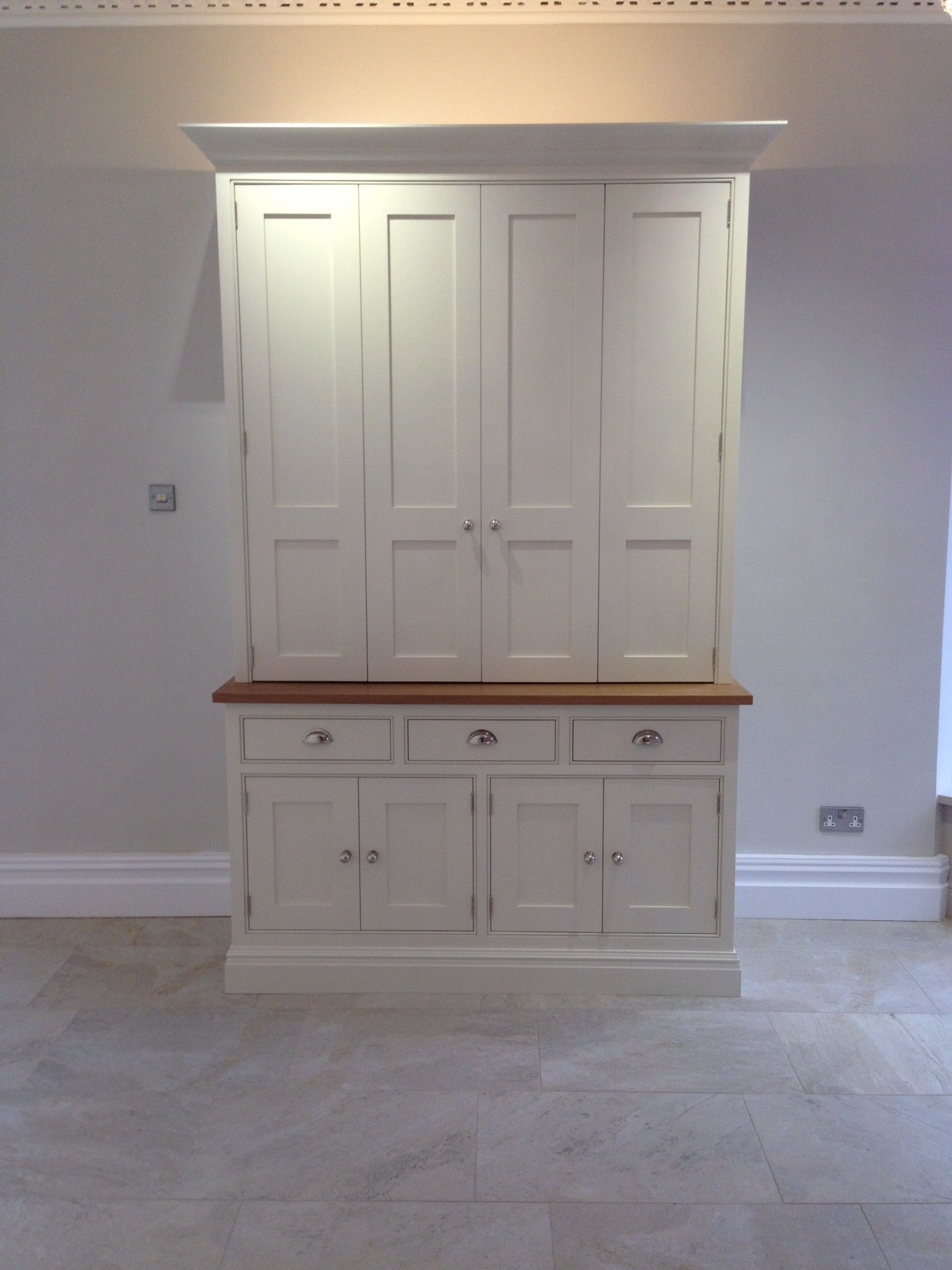 White Kitchen Dresser Unit Tom Howley Furniture Dresser Unit With Bi Fold Doors Kitchen