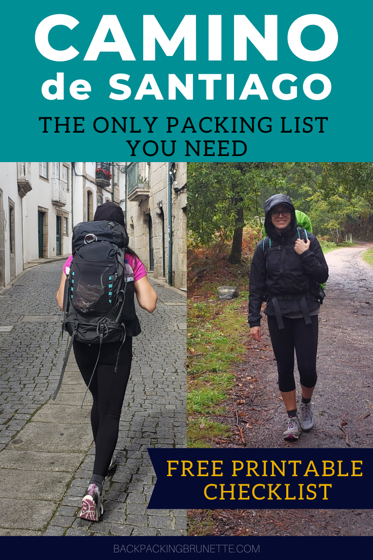 Essential Camino Packing List For Women {Free Prin