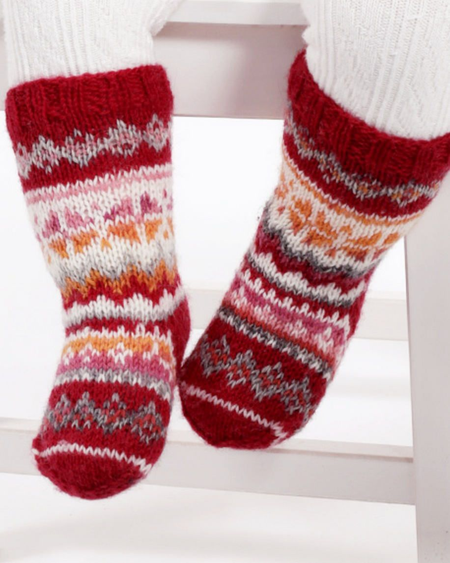 fair isle Kids socks alpaca Wool Baby socks kids knit socks toddler ...