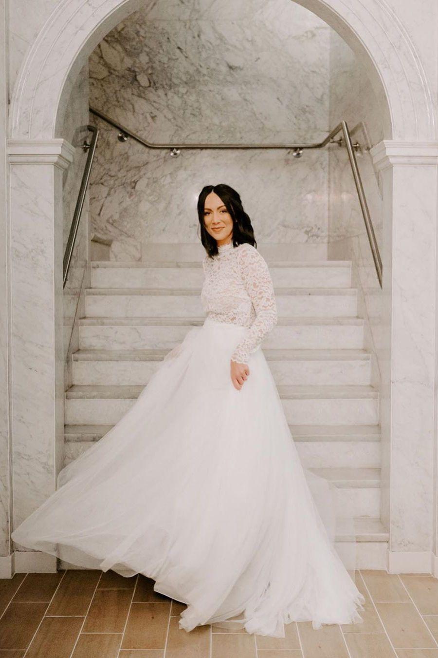 Jenny By Jenny Yoo Clarke Skirt In 2020 Bridal Outfits Wedding