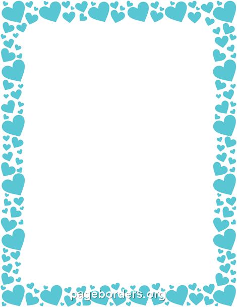 Blue Heart Border Clip Art Page Border And Vector Graphics Heart Border Borders And Frames Clip Art Borders