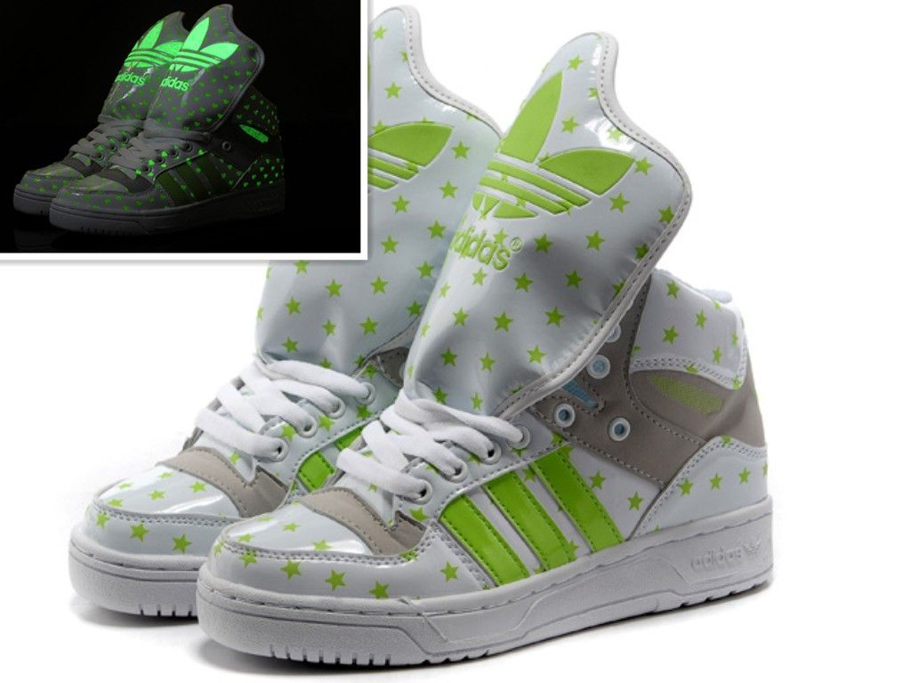 Adidas JS Big Tongue Star Black Glow In The Dark Shoes | Sneakers and flats  and sandals!! | Pinterest | Adidas, Dark and Big