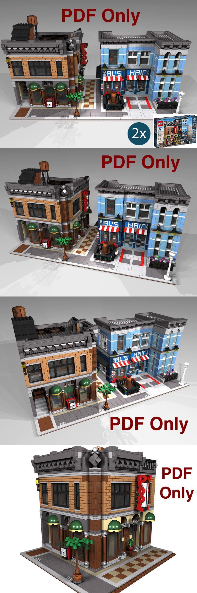 Lego Custom Modular Instructions Detective/'s Office Neighborhood 10246 PDF Only