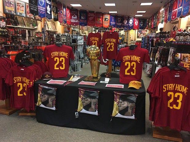 lebron merch. Akron\u0027s 7th Floor Clothing Creates \u0027Stay Home 23\u0027 Merch To Keep LeBron James On Lebron T