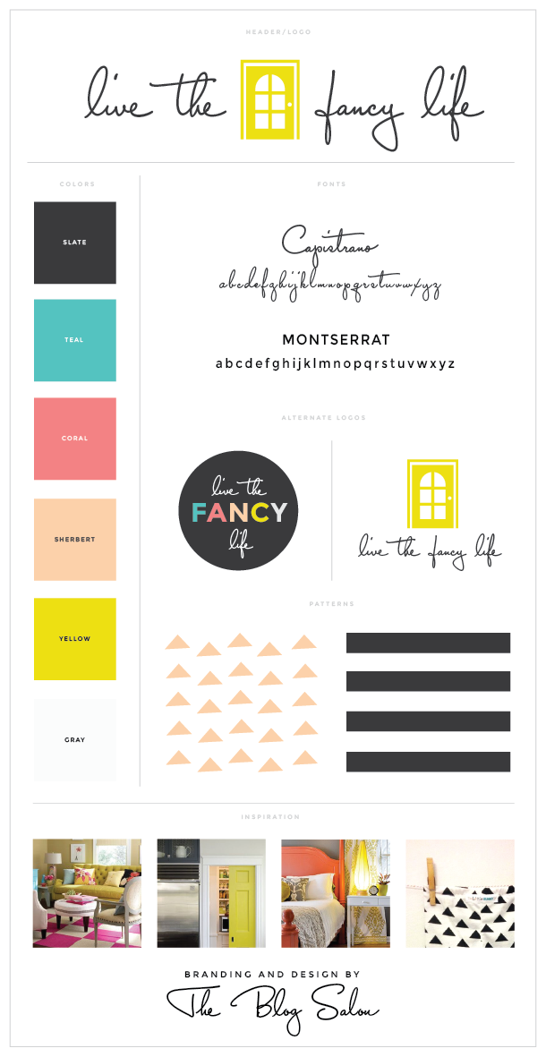 Great Wordpress Design And Process By The Blog Salon   Design For  Livethefancylife.com