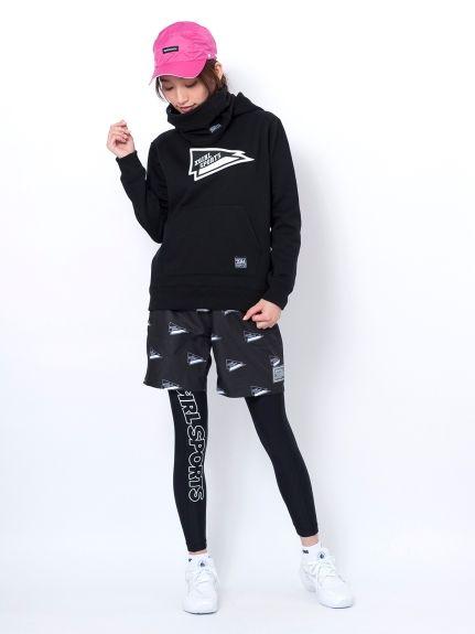 SWEATHOODIE FLAG LOGO(トップス)|X-girl Sports(エックスガール スポーツ)|calif(カリフ)|B's INTERNATIONAL公式通販サイト