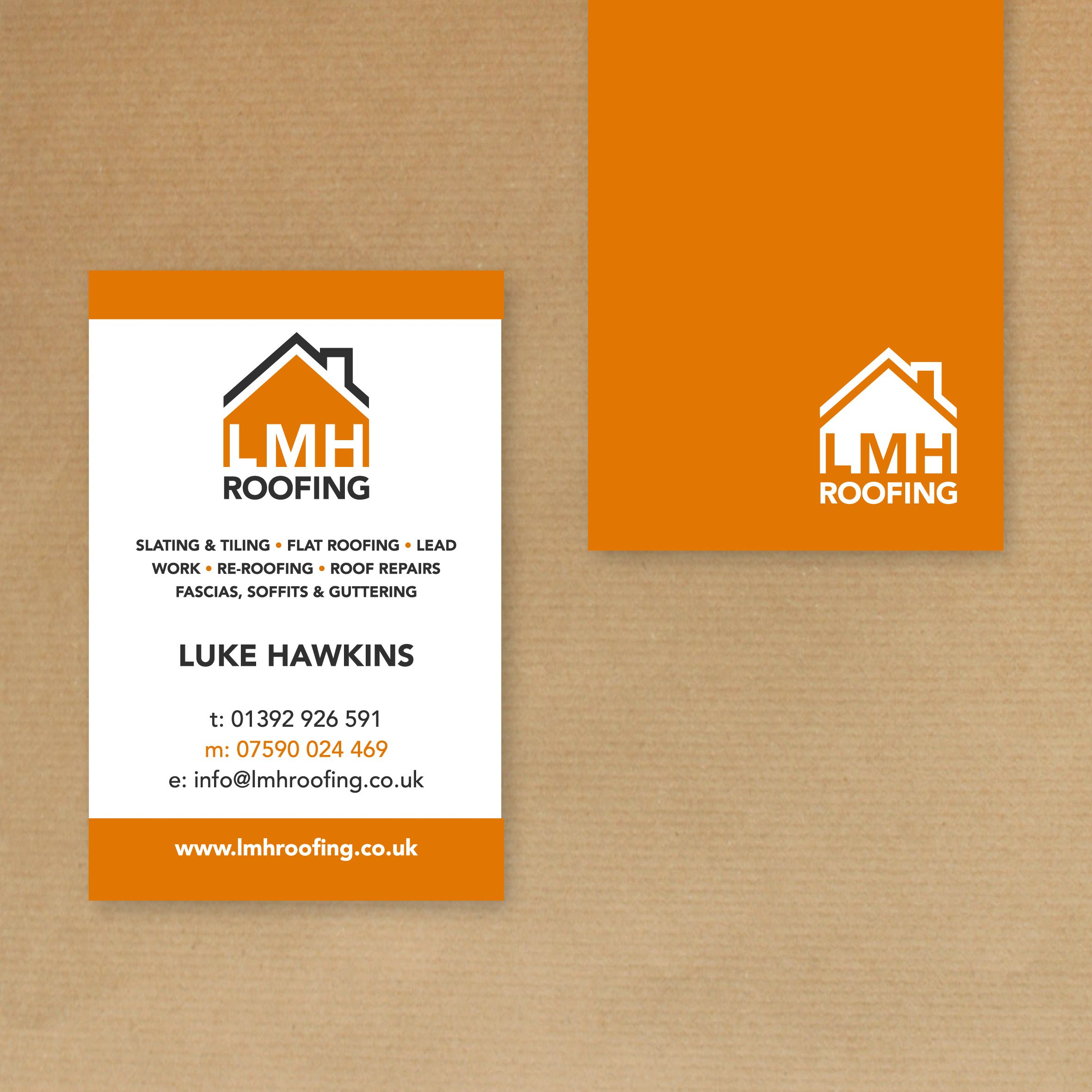 Brand new logo design for our friend luke at lmhroofing great value printing graphic design in exeter reheart Images