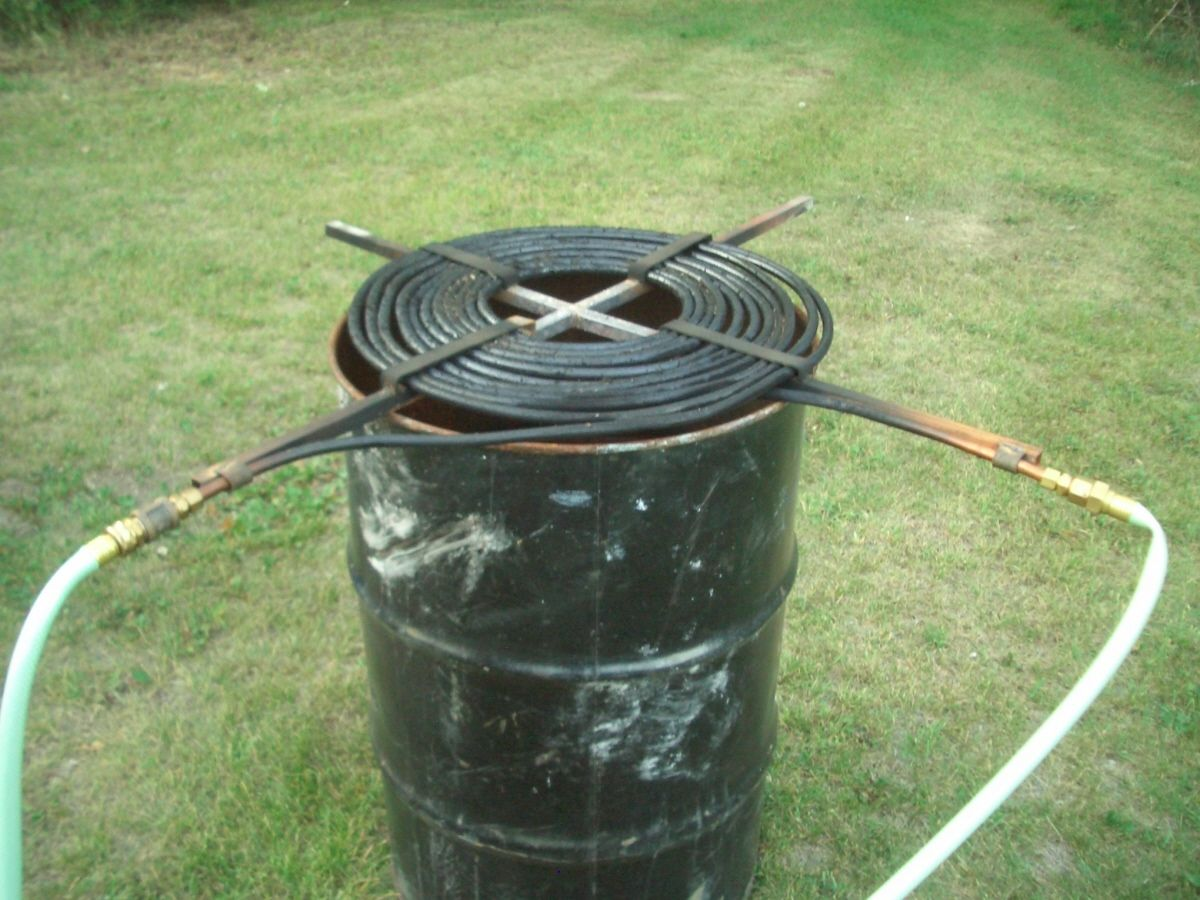Pool Heater by Ivan1547 -- Homemade pool heater constructed from 100 feet of 1/