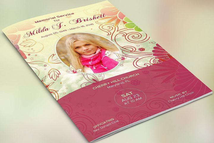 Memory Funeral Program Publisher Template from DesignBundles.net ...
