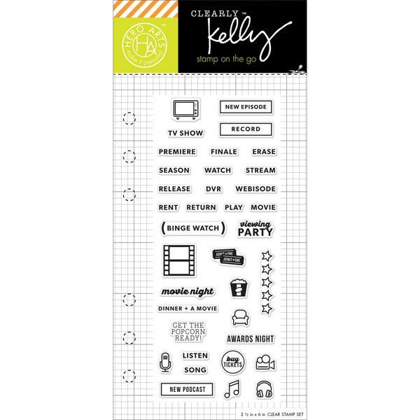 Kelly Purkey Clear Stamps - TV Planner