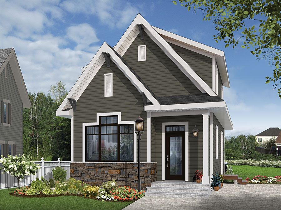 Plan 22402dr undeniable curb appeal curb appeal Small house plans canada