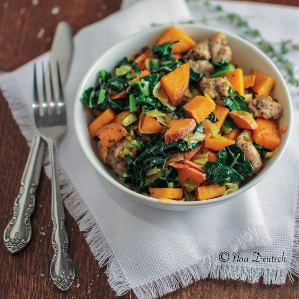 Mix kale into a sweet potato hash and top with a sunny-side-up egg.   29 Ways To Eat More Veggies For Breakfast