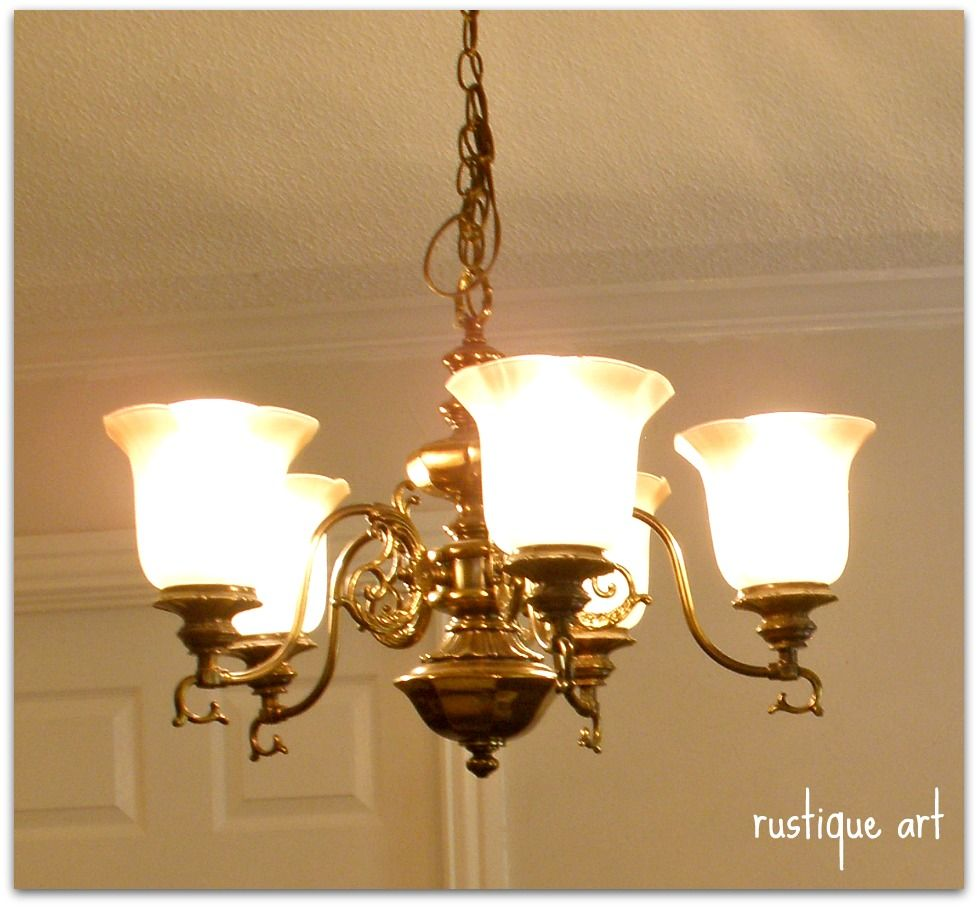 Our House Was Built In 1985 And The Kitchen/dining Room Chandelier Is An  Original Fixture. Straight Out Of The Complete With The Antique Brass Finish