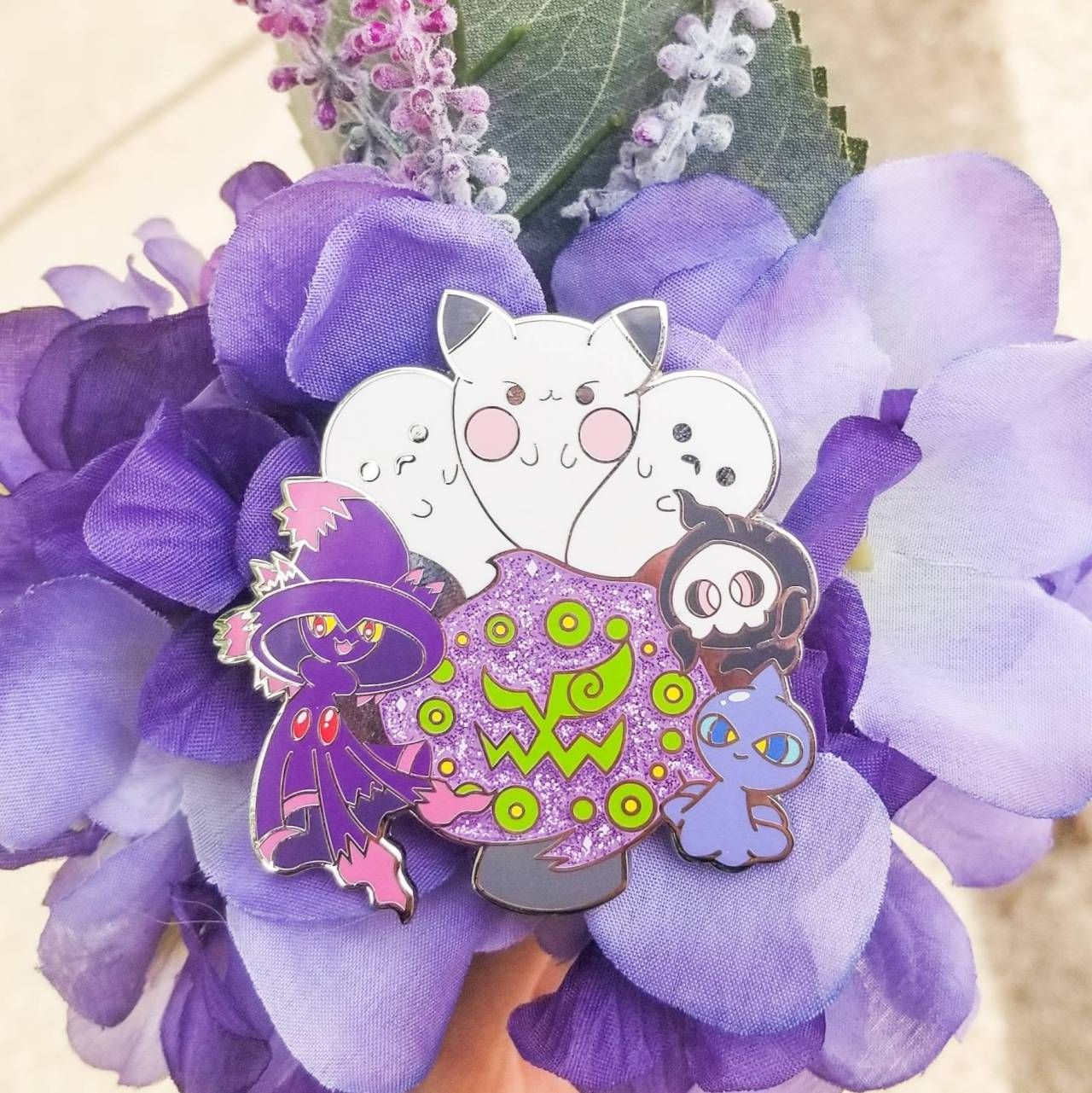 Ghost Pokemon Pin made by chibivoodoocreations -