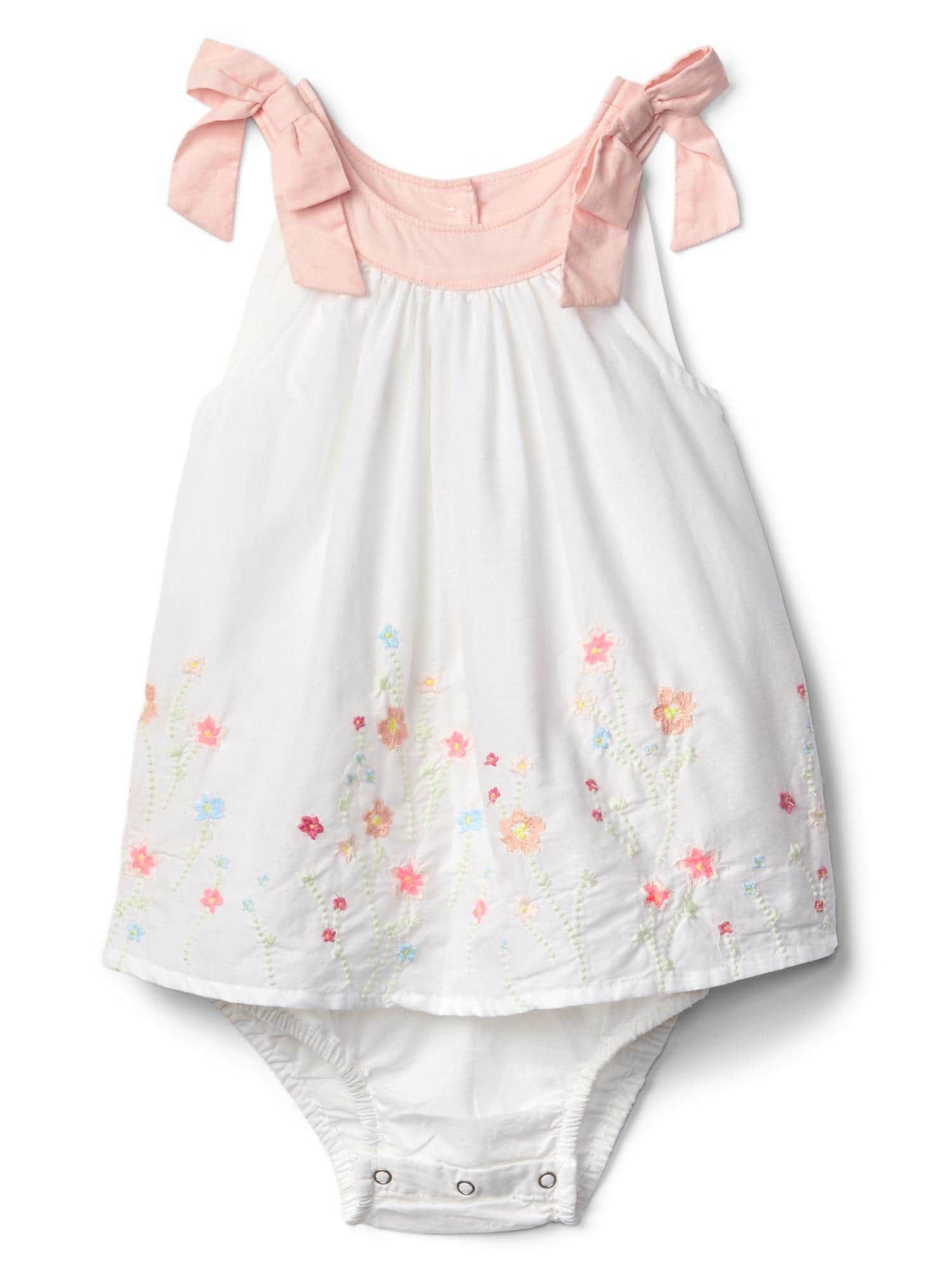 Embroidered Floral Border Gap Baby Portfolio