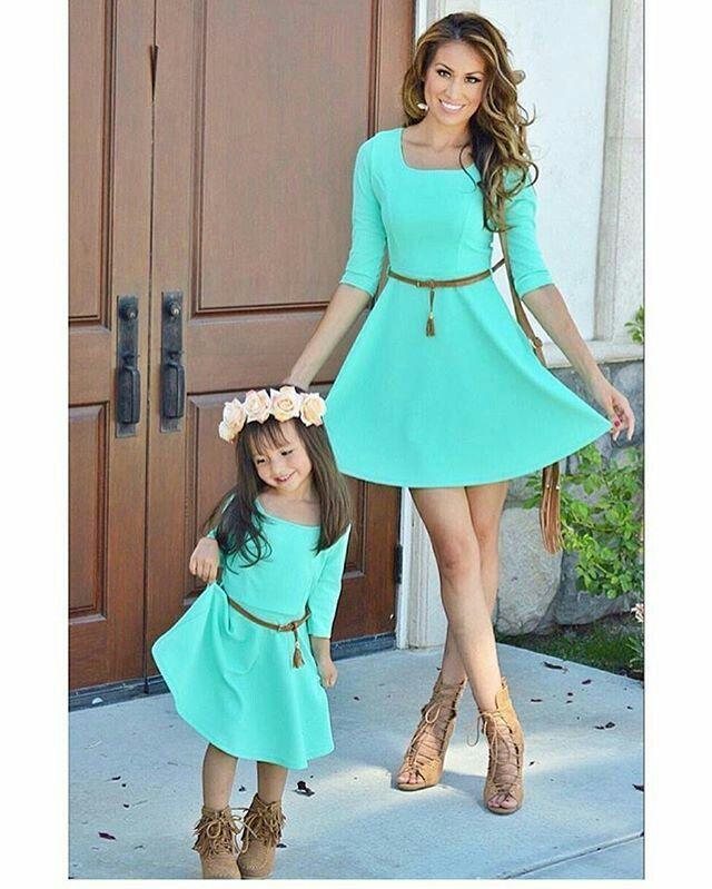 1bde22843c6 Mode mère-fille   70 des plus beaux look assortis pour mère et fille ...