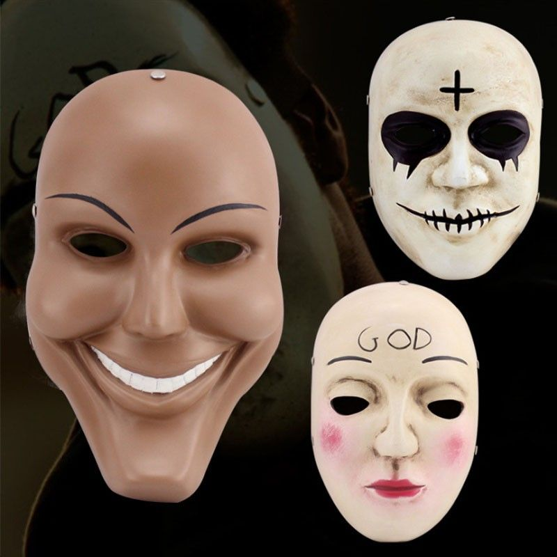 the purge anarchy masks inlcuding the god mask cross mask and smile mask the purge anarchy horror mask is made of resin in good quality - Purge Anarchy Masks For Halloween