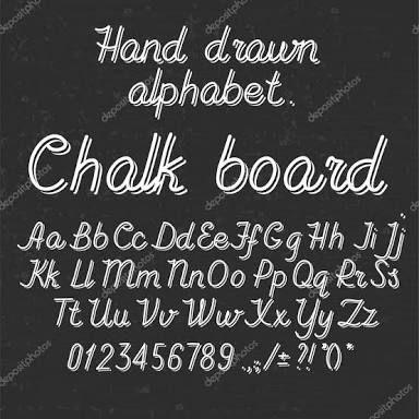 Resultado de imagem para alfabetos para choalk