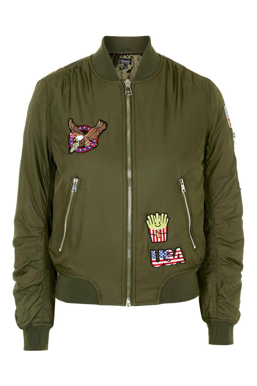 online store 3e499 05722 MA1 Bomberjacke mit US-Aufnäher - Jacken & Mäntel ...
