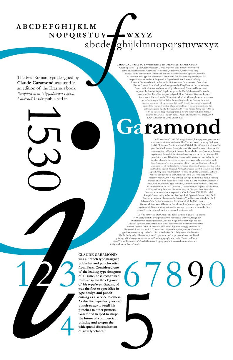 Garamond poster for typography assignment   Typography