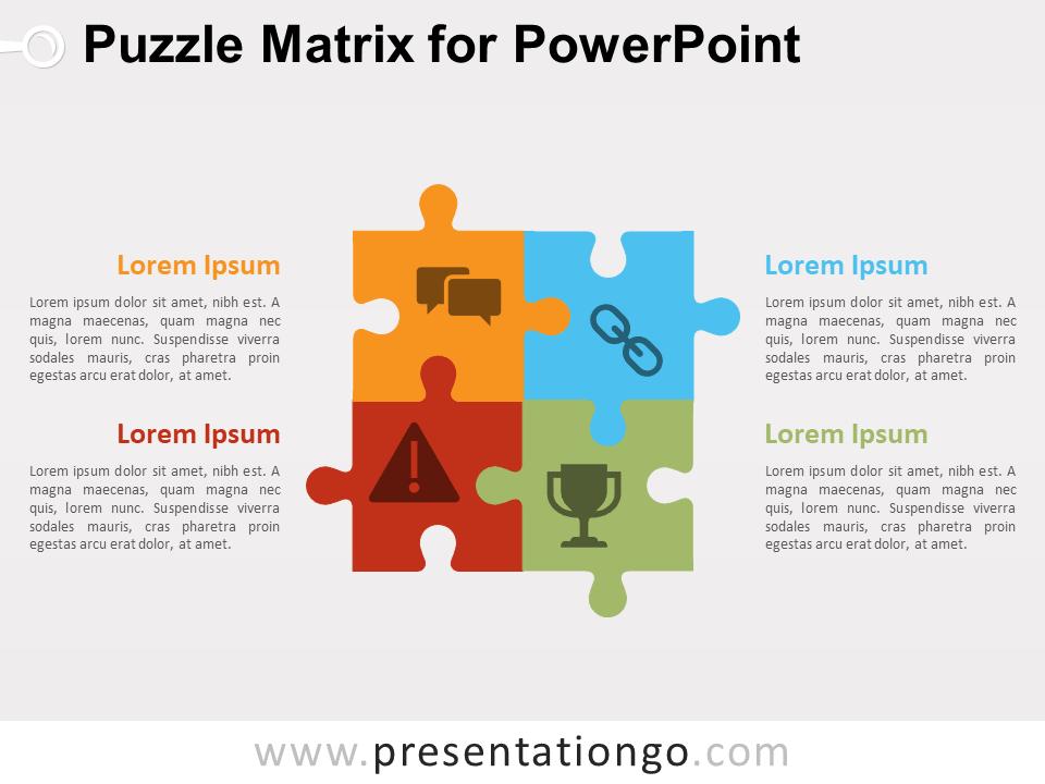 Puzzle Matrix Diagram For Powerpoint Presentationgo Com Powerpoint Powerpoint Design Puzzle Graphic