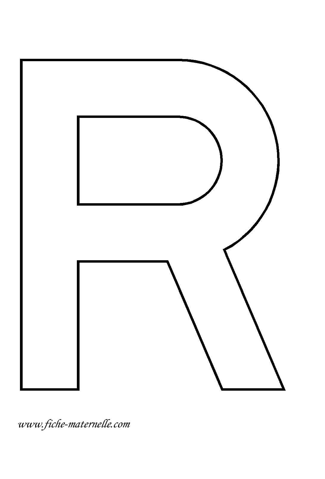 Lettre De L Alphabet A Decorer La Lettre Capitale R Lettre A Lettre Alphabet A Imprimer Lettre R