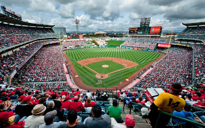 The Best And Craziest Major League Baseball Stadium Food Baseball Park Mlb Stadiums Angel Stadium