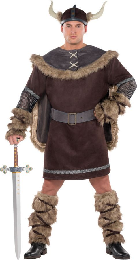 Adult Viking Warrior Costume Plus Size - Party City Halloween - party city store costumes