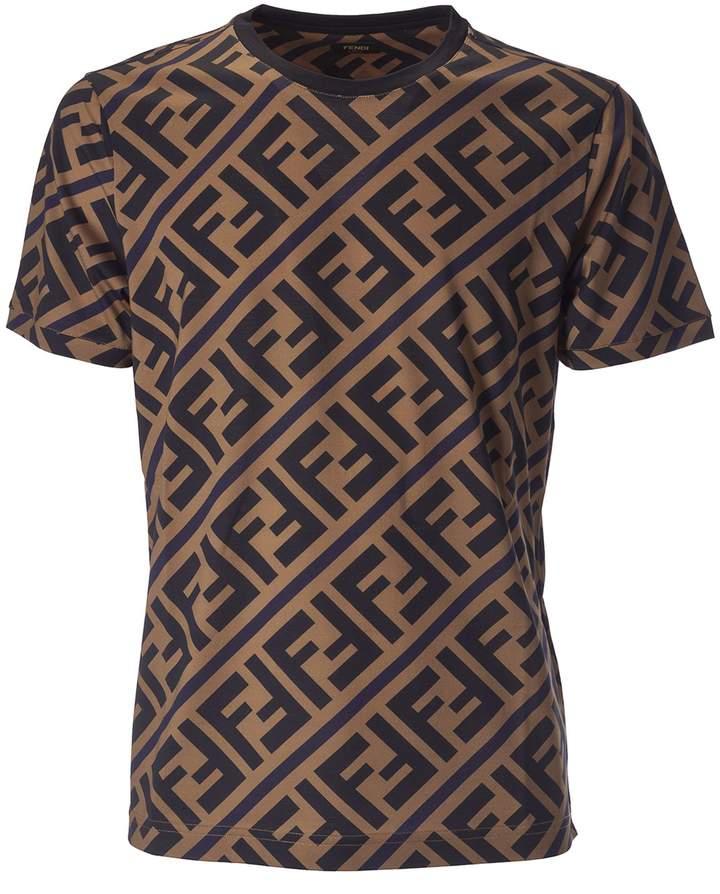 05d9011fedf Fendi Double F Logo T-shirt