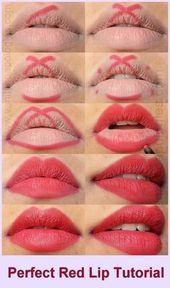 Tutorial de maquillaje Artículos paso a paso para labios 50 Ideas de moda #makeup Tutorial de maquillaje …