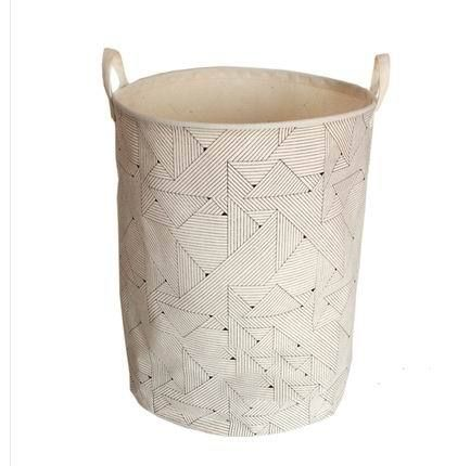 Laundry Bags With Handles Over Print 35X45Cm Fabric Foldable Storage Basket Two Cotton