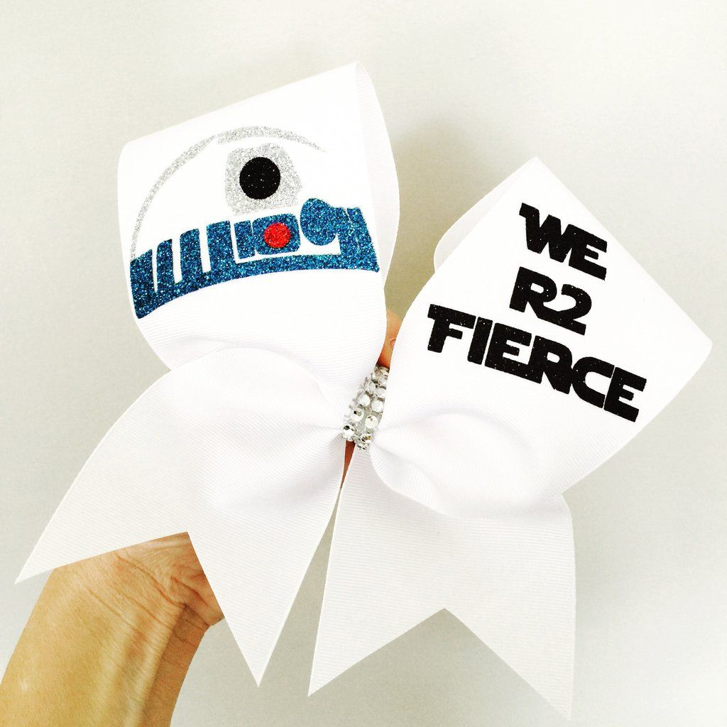 WE R2 FIERCE R2D2 Cheer Bow Glitter Detail Star Wars