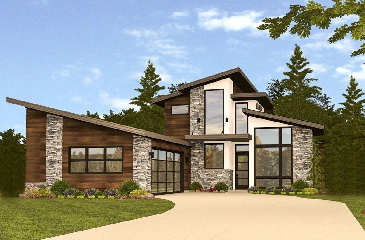 House Plan 85191MS Dramatic Modern House Plan
