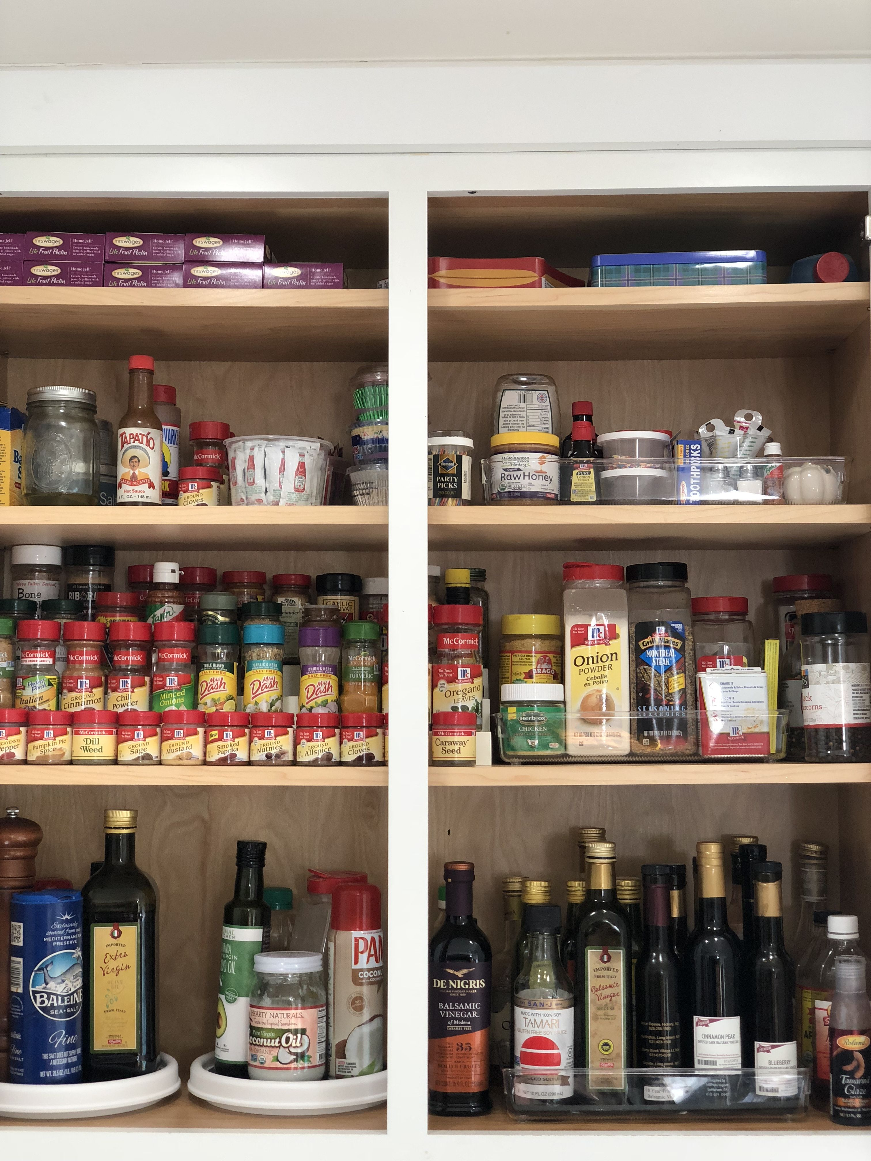 organize your spice cabinet with lazy susan spice cabinet cabinet liquor cabinet on kitchen organization lazy susan cabinet id=74208
