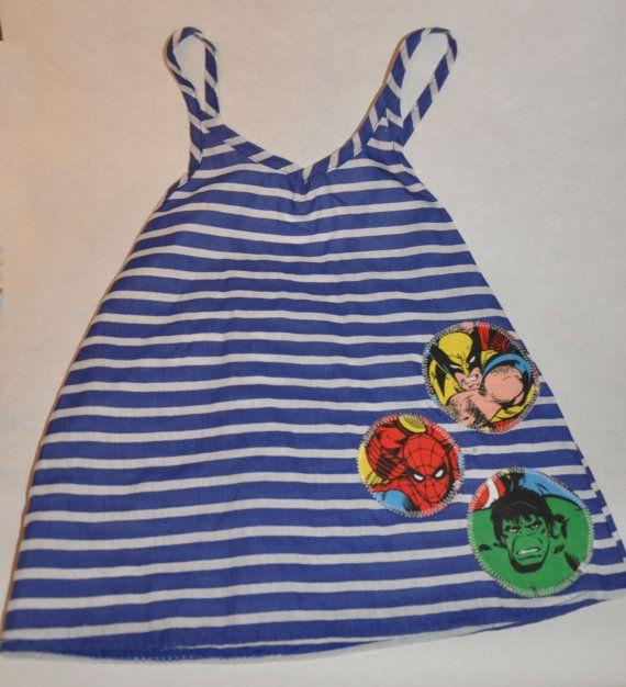 Little Superhero Dress by Yellophant on Etsy