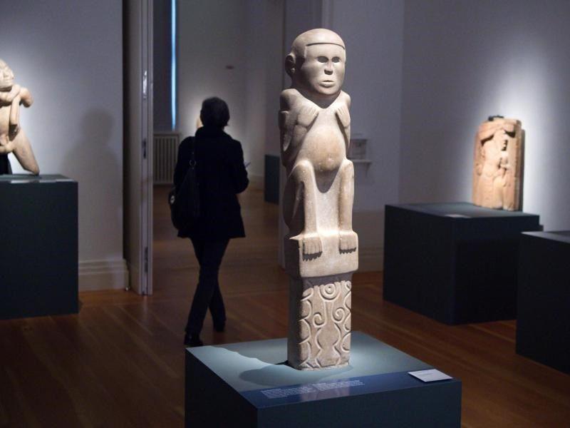 Die Ausstellung zeigt rund 350 Werke der indigenen Kunst, darunter viele mexikanische Nationalschätze. Foto: Bernd von Jutrczenka