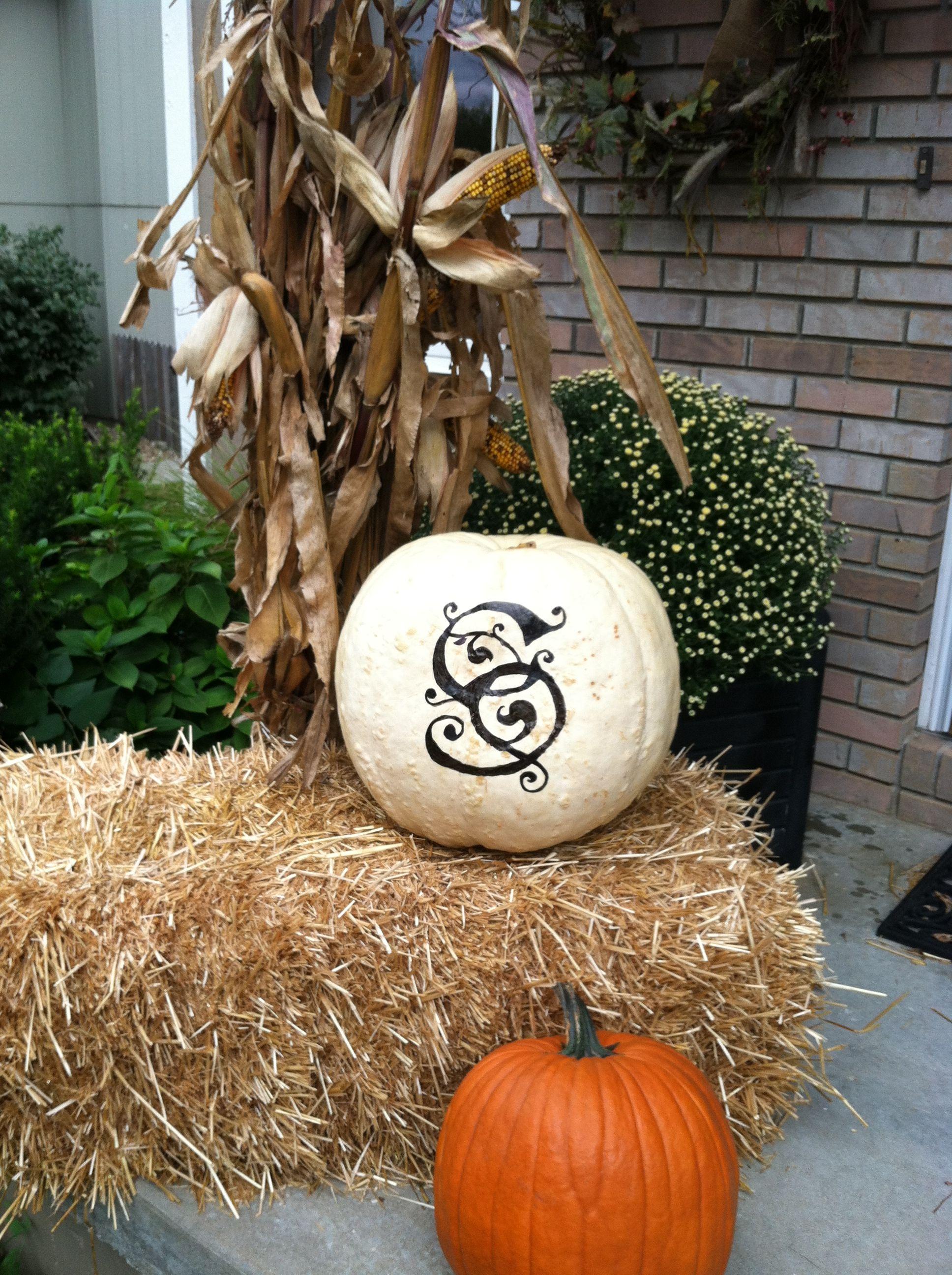 My big white pumpkin!