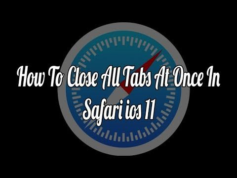 How to Close All Tabs At Once in iOS Safari on iPhone and