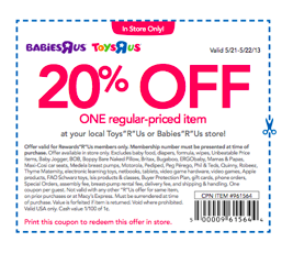 New Printable Babies R Us Coupons and Coupon Codes