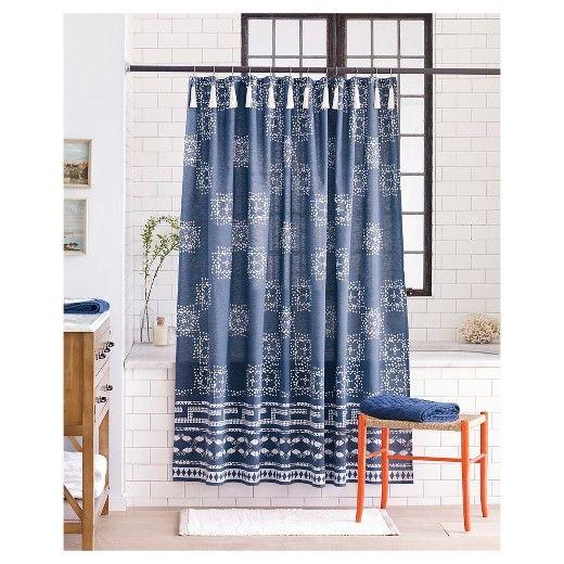 Batik Shower Curtain Indigo Nate Berkus Target Target